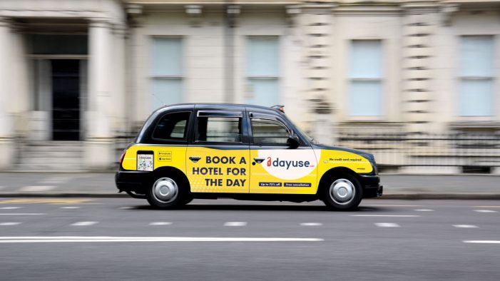 Daytime hotel booking platform unveils a black cab advertising campaign