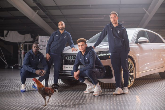 Audi brings the Spurs Cockerel to life in campaign to celebrate sponsorship