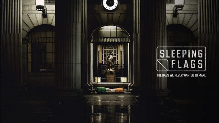 ROTHCO help charity O.N.E. reimagine the Irish flag as shocking symbol of veteran homelessness