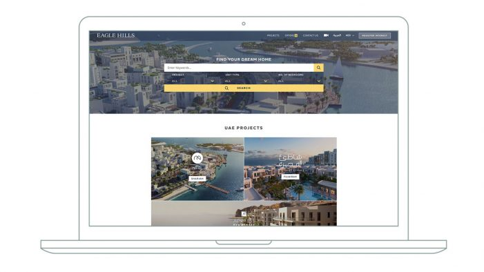 Crowd creates an award-winning website for luxury property developer Eagle Hills