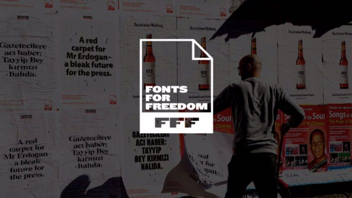 Reporters Without Borders Germany Turn Fonts of Banned Newspapers into Symbols of Press Freedom
