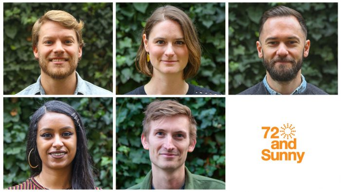 72andSunny Amsterdam makes a number of significant hires,  boosting its global team of talent