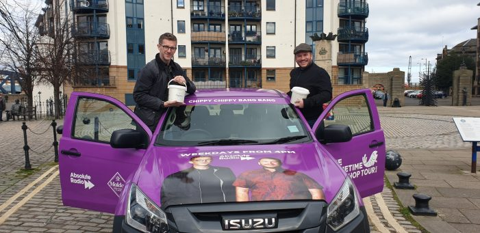Promohire delivers branded pick-up truck for Absolute Radio's tour to find the UK's best fish and chip shop