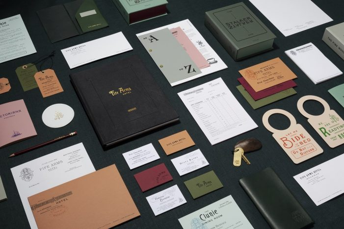 Here Design combines art and hospitality in identity for The Fife Arms, Braemar