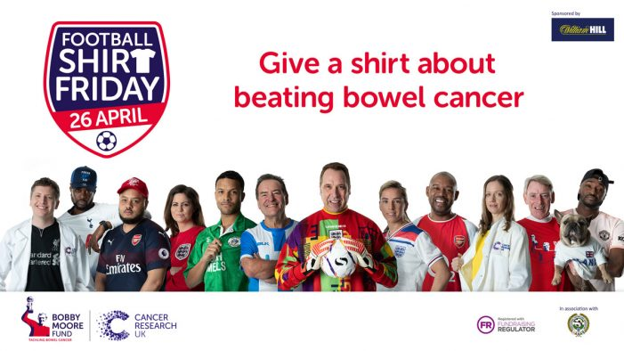 Twelve kicks off 'Football Shirt Friday' campaign on behalf of the Bobby Moore Fund and Cancer Research UK