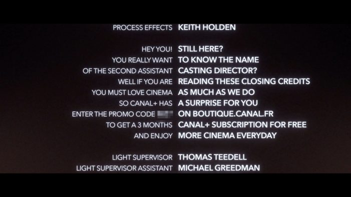 CANAL+ surprises real cinema lovers with a gift hidden in the closing credits