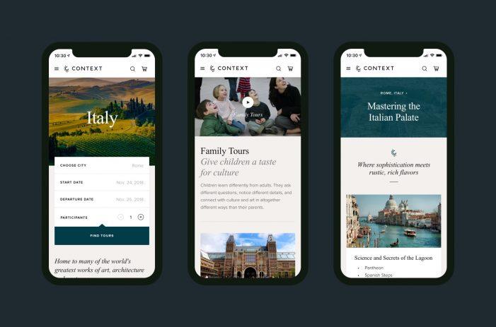 Context Travel reaching new audiences with rebrand by Studio Rodrigo