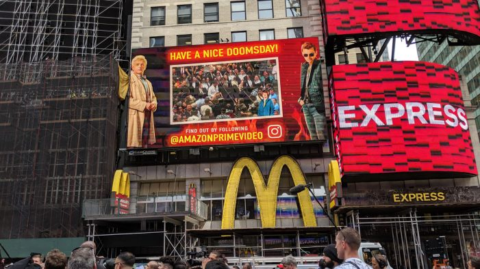 Amazon Prime unleashes MR apocalypse on the streets of New York ahead of new series: Good Omens