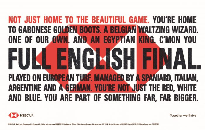 HSBC UK celebrates diversity of Full English Finals with tactical football ad