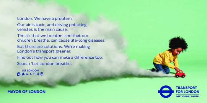 New Transport for London campaign by VCCP says 'Let London Breathe'