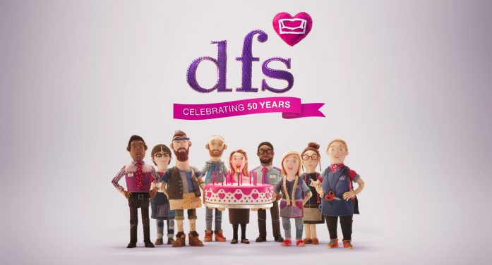 DFS celebrates 50-years of bringing comfort to the UK in new campaign
