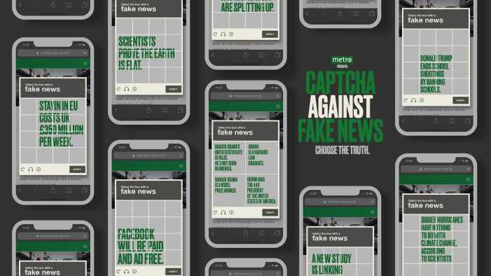 Metro Newspaper turns captcha into an anti-fake news tool
