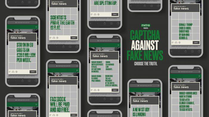 Metro Newspaper turns captcha into an anti-fake news tool