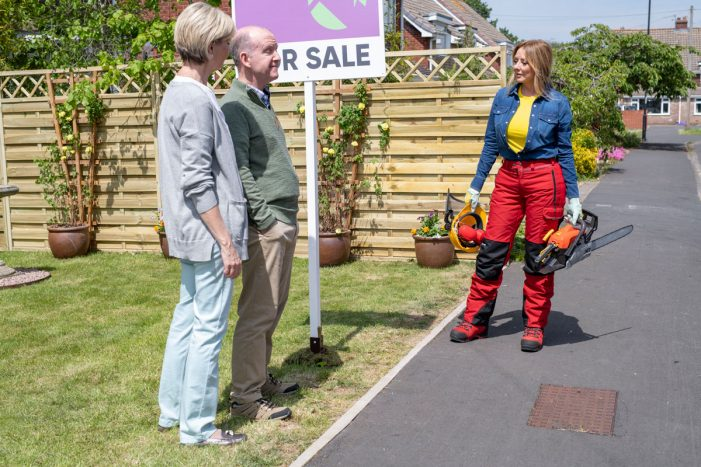 Carol Vorderman wields a chainsaw in new multi-million-pound ad campaign for SunLife