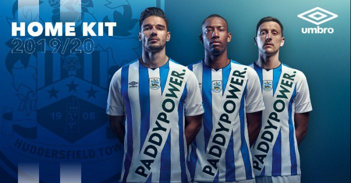 Huddersfield Town reveal kit design for new season, including Paddy Power logo for the first time