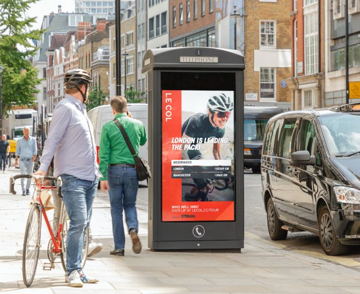 Le Col launches first of its kind DOOH campaign to promote national cycling challenge in the UK