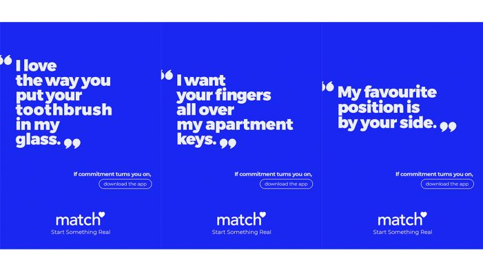 Marcel and Match think commitment is the new sexy in new campaign