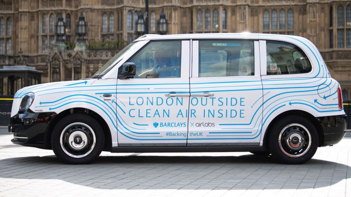 Barclays launch Air cabs in London, as part of their commitment to Backing the UK