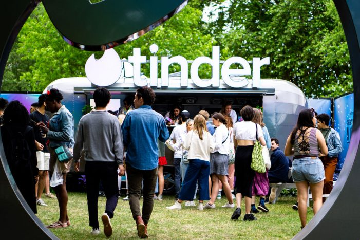 Tinder and RPM match for British Summer Time festival campaign