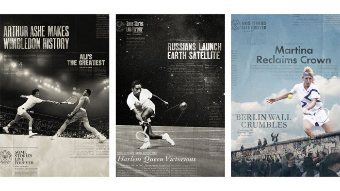 "Wimbledon rolls out posters merging tennis greats with history's era-defining moments: ""The Story Continues"""