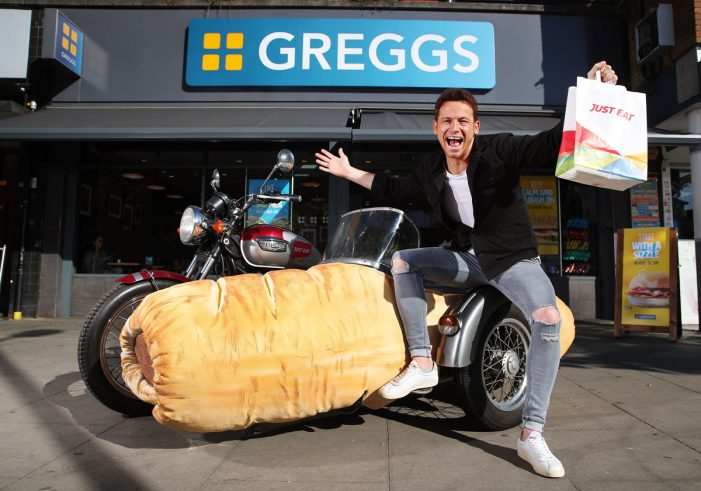 Just Eat Unveil World's First Sausage Roll Sidecar to Celebrate the Launch of Greggs Delivery