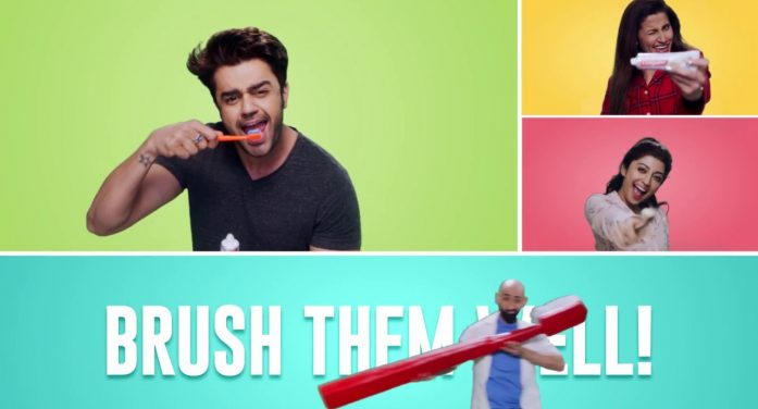 'Brush Them Well' says the new campaign from FoxyMoron for new Colgate Total