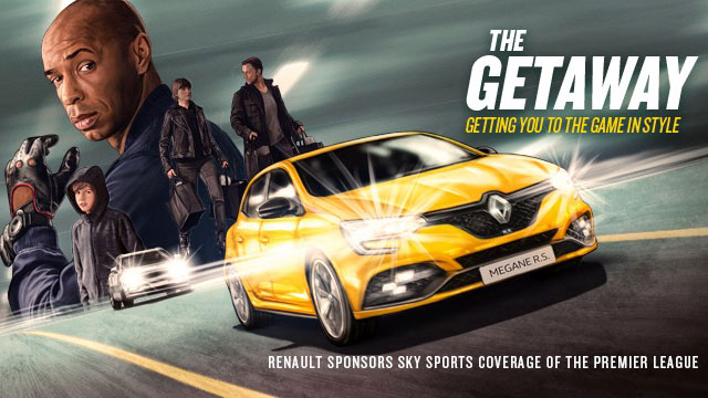 Renault launches new idents on Sky Sports featuring Thierry Henry