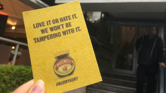 Marmite hands out branded sandpaper at Lord's, as spat with Vegemite continues
