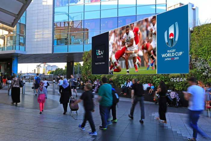Ocean Outdoor secures exclusive partnership with ITV Sport to broadcast Rugby World Cup action