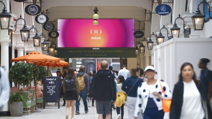 Ocean launches first full motion large format digital screen in Kensington shopping and commuter hub