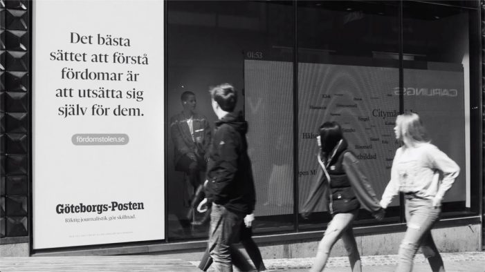 Stampen Media and Stendahls' social experiment looks to eradicate social prejudices in Sweden