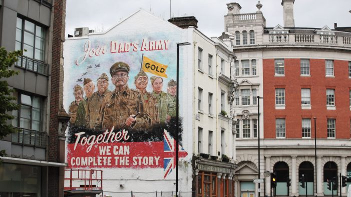 UKTV reveals 'Ghost Billboard' to promote Dad's Army: The Lost Episodes