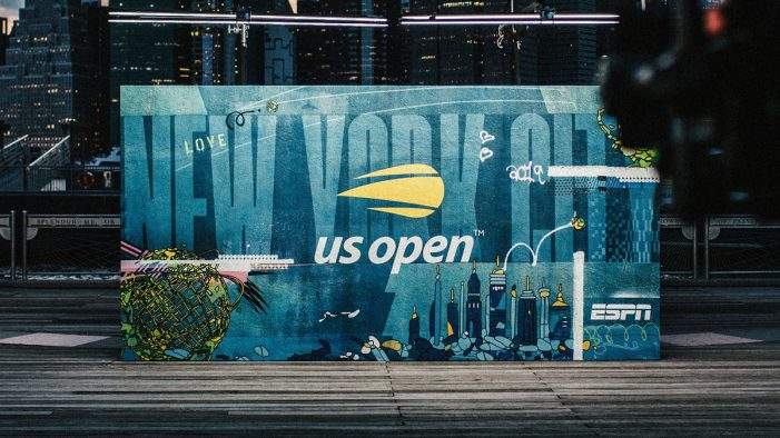 loyalkaspar creates street art installation and vibrant TV spot for US Open