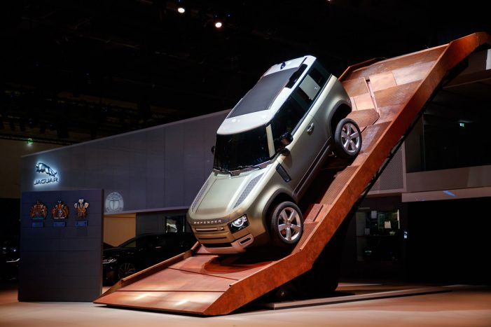 Land Rover take launch of new Defender up a gear