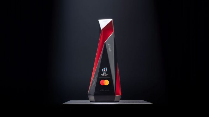 Tech fuels spirit of sportsmanship at Rugby World Cup as Mastercard unveils live 'Player of the Match' trophy