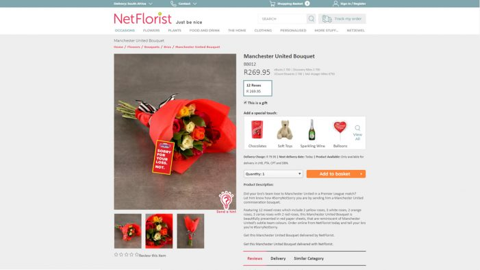 NetFlorist and HelloFCB+ gets South African men to send flowers to their mates