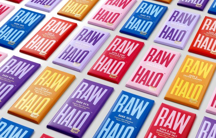 B&B studio designs new brand identity for Raw Halo, the sustainable, feel good chocolate