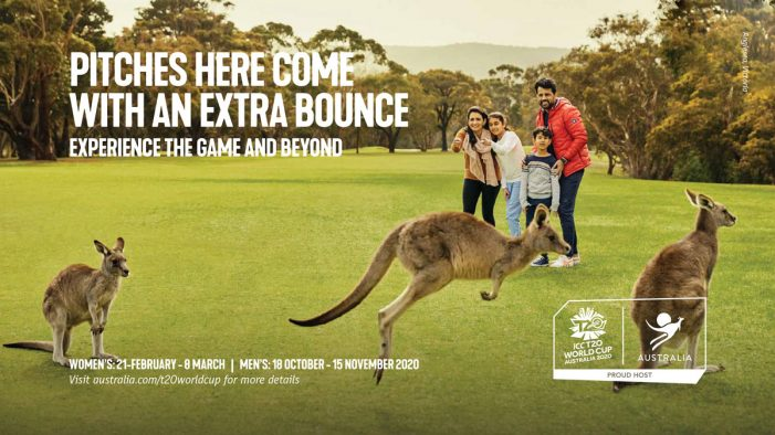 Tourism Australia invites Indians to 'Experience the Game and Beyond' at the ICC T20 World Cups in 2020