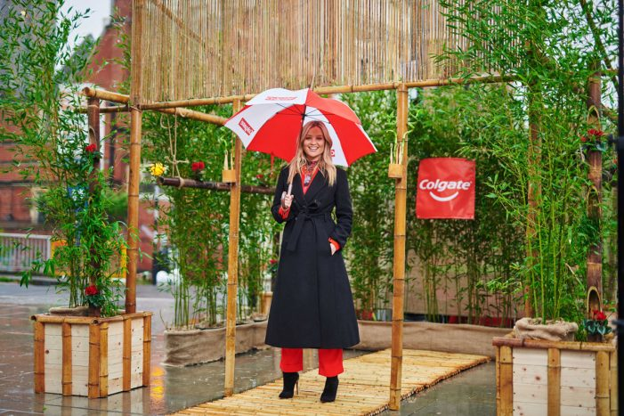 Laura Whitmore shoots for a more sustainable future with the launch of the Colgate Bamboo Oasis