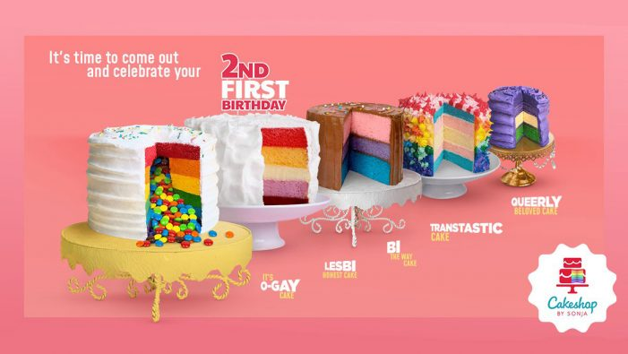 "The Cakeshop by Sonja celebrates National Coming Out Day with ""My 2nd First Birthday"" campaign"