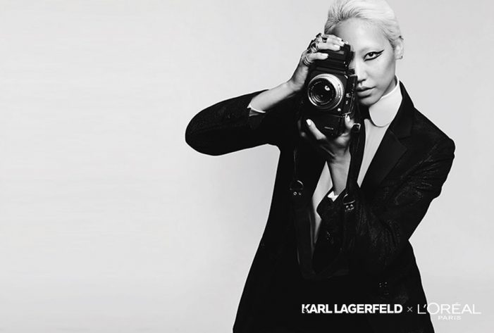 A collaboration between L'Oréal Paris and Karl Lagerfeld pays homage to the iconic designer