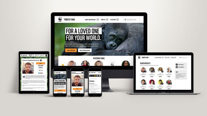 WWF-UK unveils tribute fund website allowing donors to raise funds online in memory of loved ones