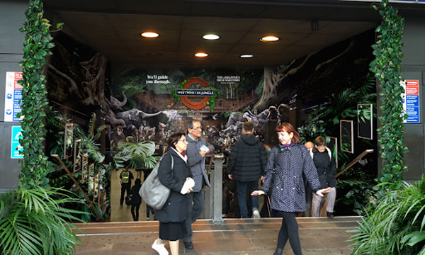 The Times and The Sunday Times transform Westminster Station into a jungle