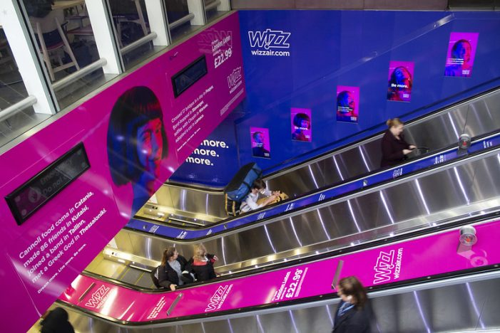 Wizz Air launches activation at King's Cross St Pancras Station