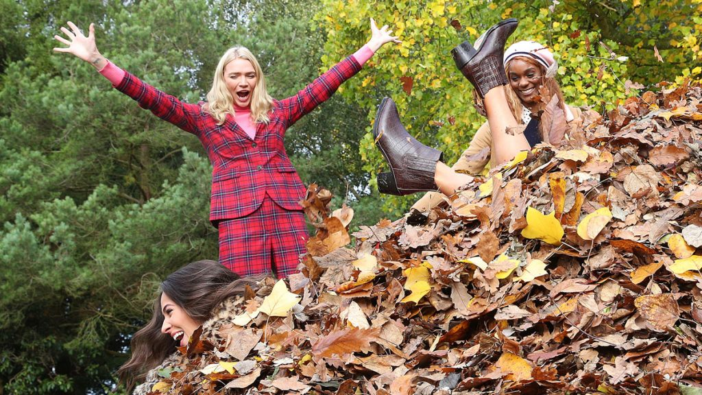Supermodel Jodie Kidd models Boden Autumn collection and launches new  'sport' of Leaf Jumping – Marketing Communication News