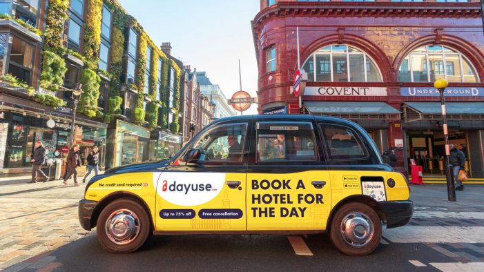 Dayuse.com launches their new black cab advertising campaign