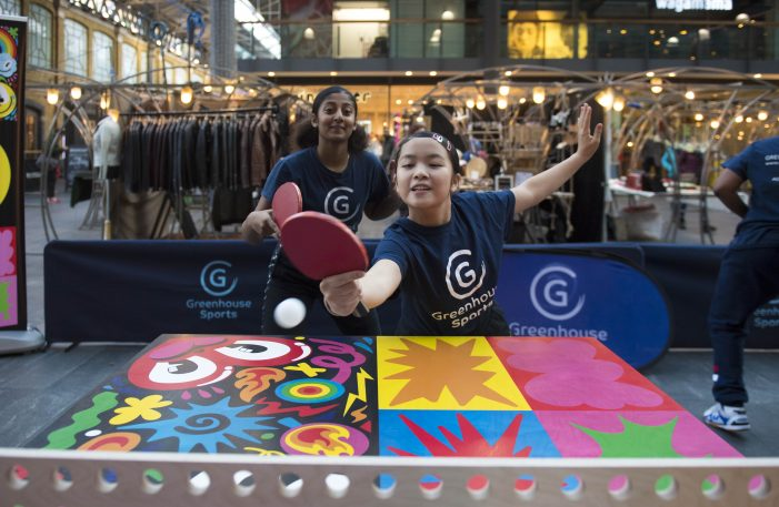 London artists create bespoke table  tennis tables for Greenhouse Sports