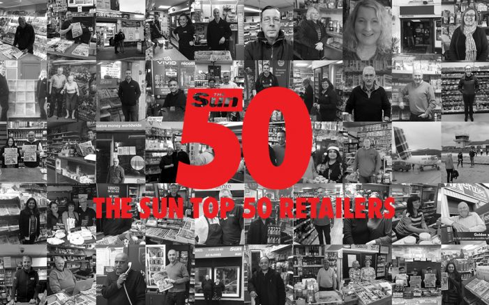 The Sun reveals Top 50 retailers and takes over The Telegraph News Store on 50th Birthday