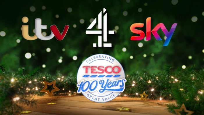 Tesco and MediaCom bring together shows and talent across Channel 4, ITV and Sky in Christmas ads