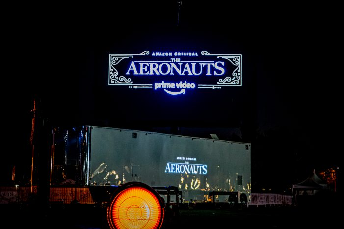 World's largest digital display on a hot air balloon for Amazon Prime Video's Aeronauts Launch